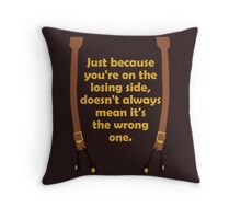 Winners and Losers Throw Pillow