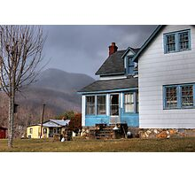 The House with Blue Trim Photographic Print