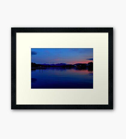 lake mirror Framed Print