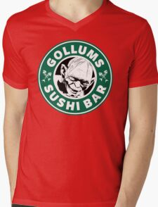 Gollums Sushi Bar Mens V-Neck T-Shirt