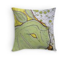 Barney the Blunted Bunny Descends on Monterey Bay Throw Pillow