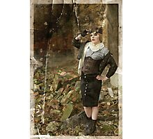 Dieselpunk Catwoman Photographic Print