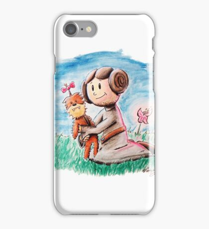 Princess Leia and Wookiee Doll Chewbacca STAR WARS fan art iPhone Case/Skin
