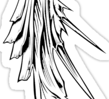 Sephiroth's wing black Sticker