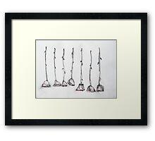 Seven Roses Framed Print