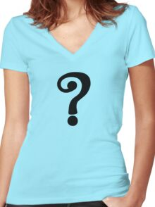 Riddle Me This, Batman Women's Fitted V-Neck T-Shirt