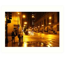 Windy City Lights  Art Print
