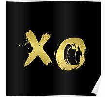 XO Gold Black Poster