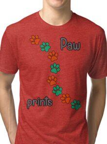 Paw prints Tri-blend T-Shirt
