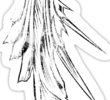 Sephiroth's wing grunge black Sticker