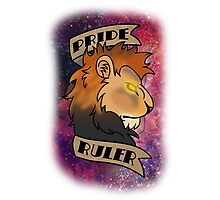 Pride Ruler- Lion Space Design Photographic Print