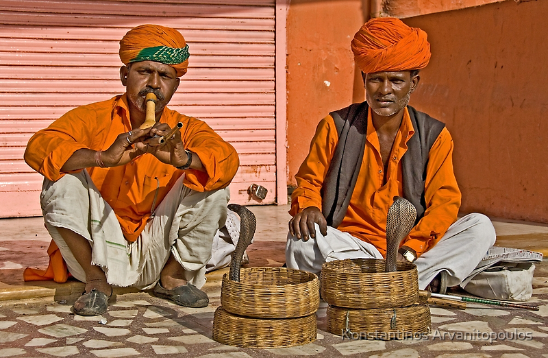 Snake charmers by Konstantinos Arvanitopoulos