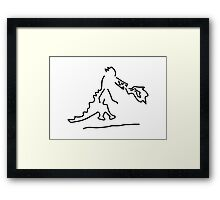 fire vomits dragon from the fairy tale Framed Print