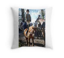 Morgan standing on pony Throw Pillow