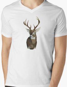 Triangle Deer Head Mens V-Neck T-Shirt