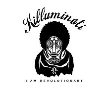Killuminati I Am Revolutionary Mask Photographic Print