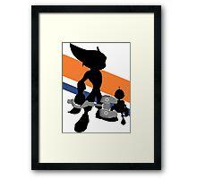 Ratchet & Clank Silhouette Framed Print