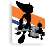 Ratchet & Clank Silhouette Canvas Print
