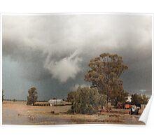 Storm at Albert © Vicki Ferrari Photography Poster