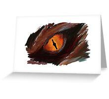 Smaug Eye - The Hobbit Greeting Card