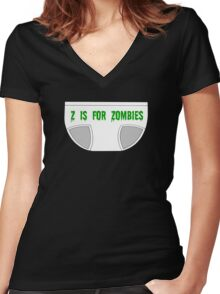 Z is for ZOMBIES Women's Fitted V-Neck T-Shirt