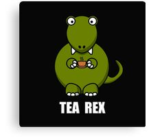 Tea Rex Dinosaur 2 Canvas Print