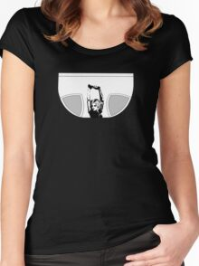 Stencil girl on underpants Women's Fitted Scoop T-Shirt