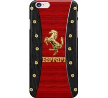 Ferrari ~ Wood Red & Gold iPhone Case/Skin