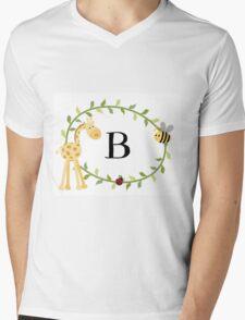 Nursery Letters B Mens V-Neck T-Shirt