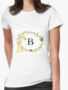 Nursery Letters B Womens Fitted T-Shirt