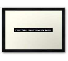 Movie Reference - TRON Framed Print