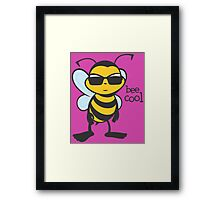 Bee Cool Framed Print