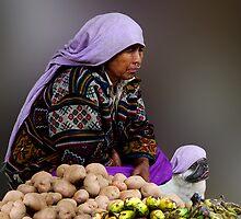 POTATO SELLERS - BHUTAN by Michael Sheridan