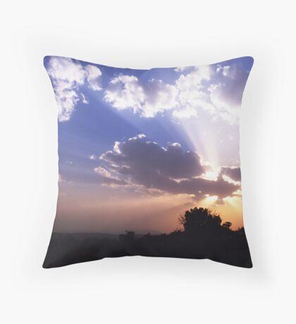 Dusty Sunset Throw Pillow