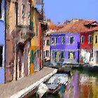 textured canal/burano by bev langby