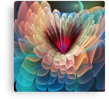 Moon flower, artistic fractal abstract Canvas Print