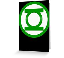 Green Lantern Symbol Greeting Card