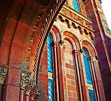 Smithsonian Castle Detail 1 by Tamara Valjean