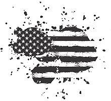Grunge US Flag by jamieleeart