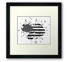 Grunge US Flag Framed Print