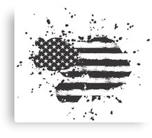 Grunge US Flag Canvas Print