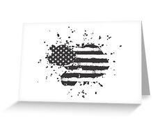Grunge US Flag Greeting Card