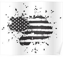 Grunge US Flag Poster