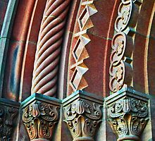 Smithsonian Castle Detail 2 by Tamara Valjean