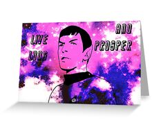 Live Long and Prosper - Spock (Galaxy) Greeting Card