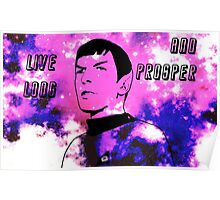 Live Long and Prosper - Spock (Galaxy) Poster