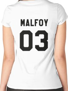 Draco Malfoy Jersey Women's Fitted Scoop T-Shirt