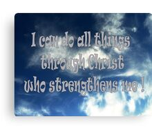 Sky and clouds with bible scripture  Canvas Print