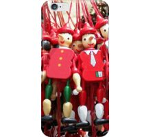 Colourful Red Toy Puppets in Prague Market Square iPhone Case/Skin