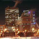 Winnipeg Panorama Night Shot by Stephen Thomas